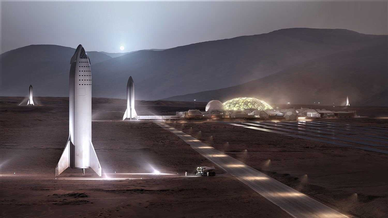 """Elon Musk zur """"Mars Basis Alpha"""""""