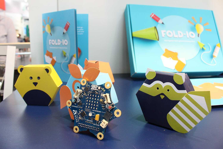 CEBIT 2018: Calliope mini und interaktive Gehäuse von fold-io.