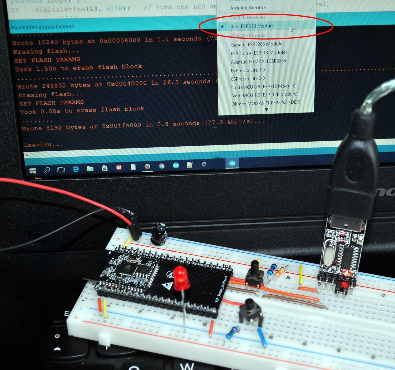 Bereits in der Beta-Phase unterstützt von der Arduino IDE