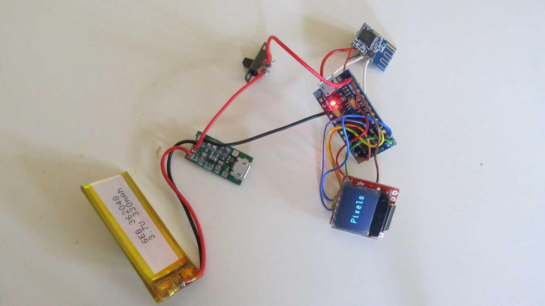 Arduino mit weiteren Bauteilen.