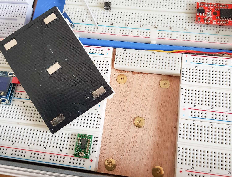 Magnetisch austauschbare Module des Raspberry-Pi-Koffer