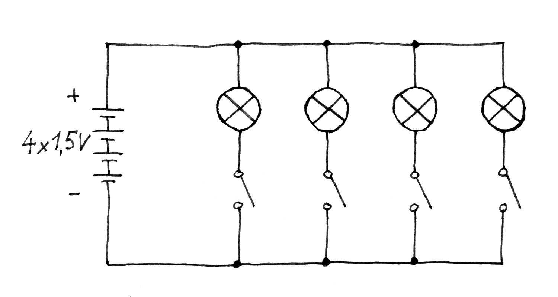 Schaltbild des magischen Schaltpults.