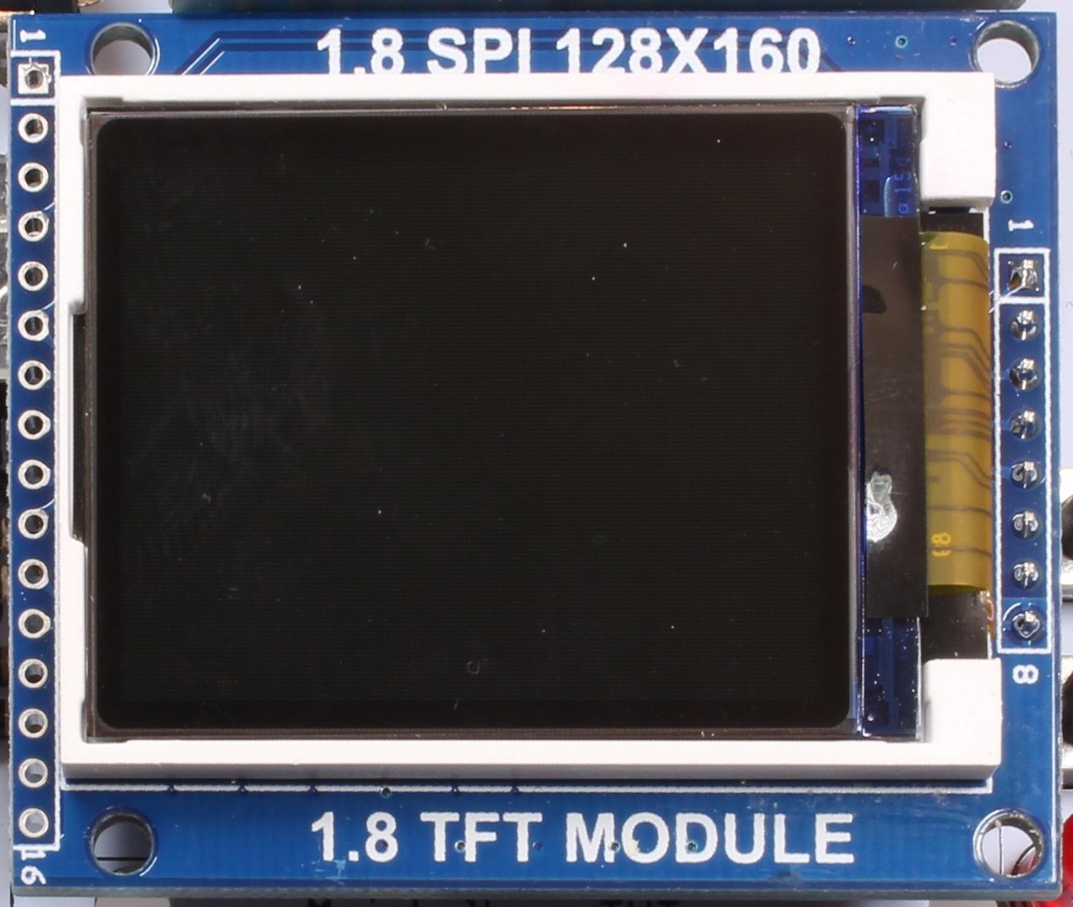 tft 128x160 1,8 spi sd ST7735B Display