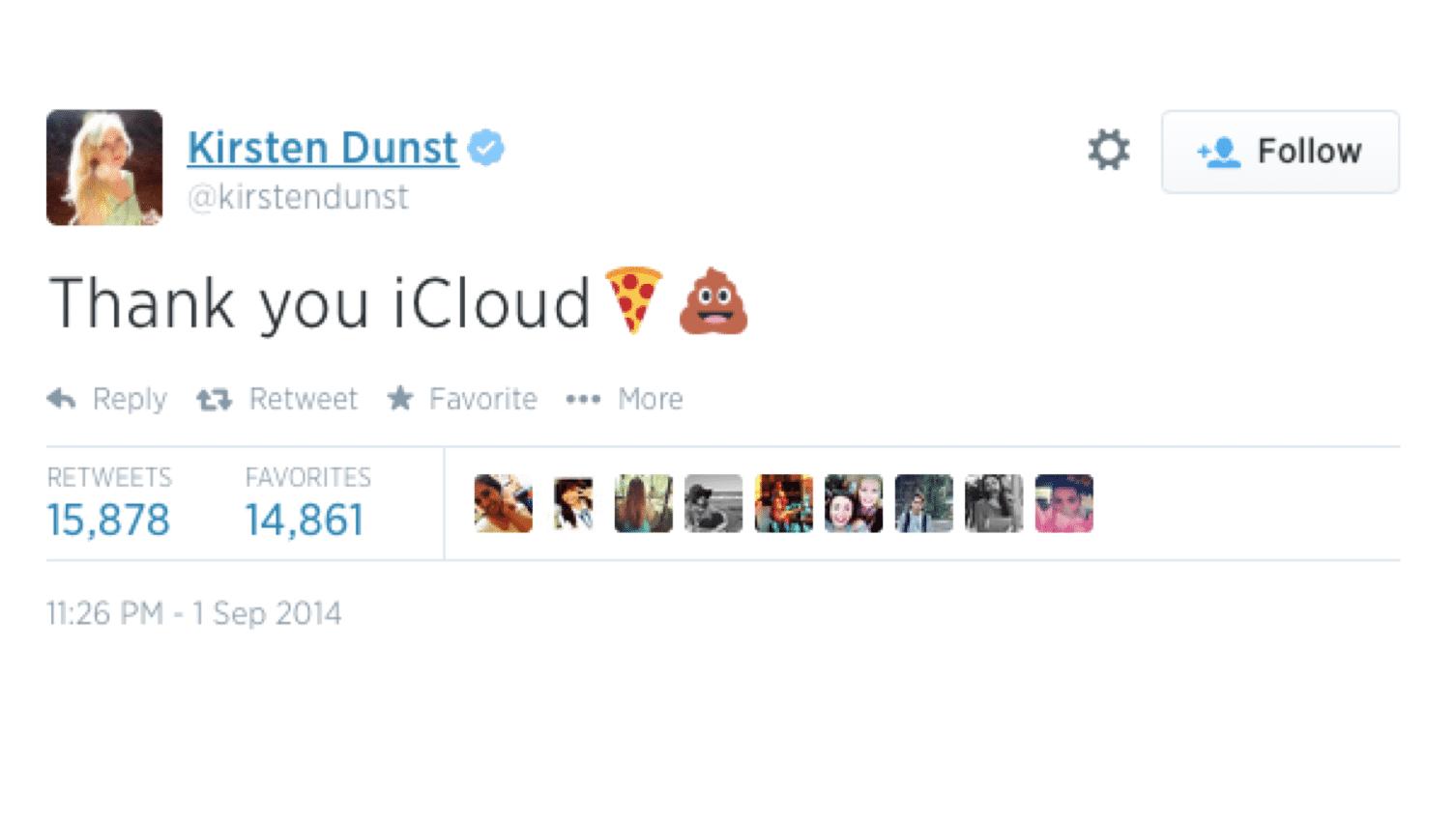Thank you iCloud