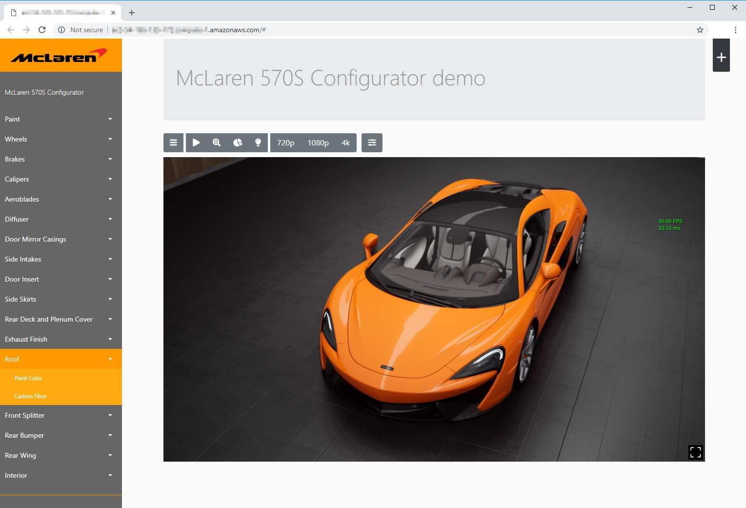 Unreal Engine, Modell und Bild McLaren