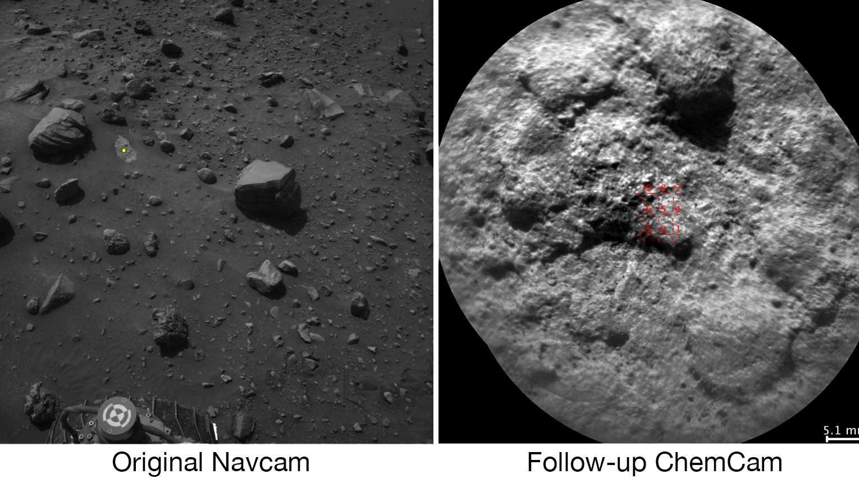 Marsrover Curiosity sucht sich seine Laser-Ziele jetzt selbst aus