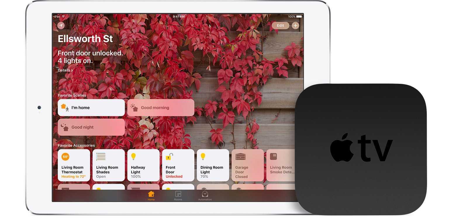 Um HomeKit-Hardware auch von unterwegs aus zu steuern, ist ein Home-Hub erforderlich –ein Apple TV oder ein iPad.