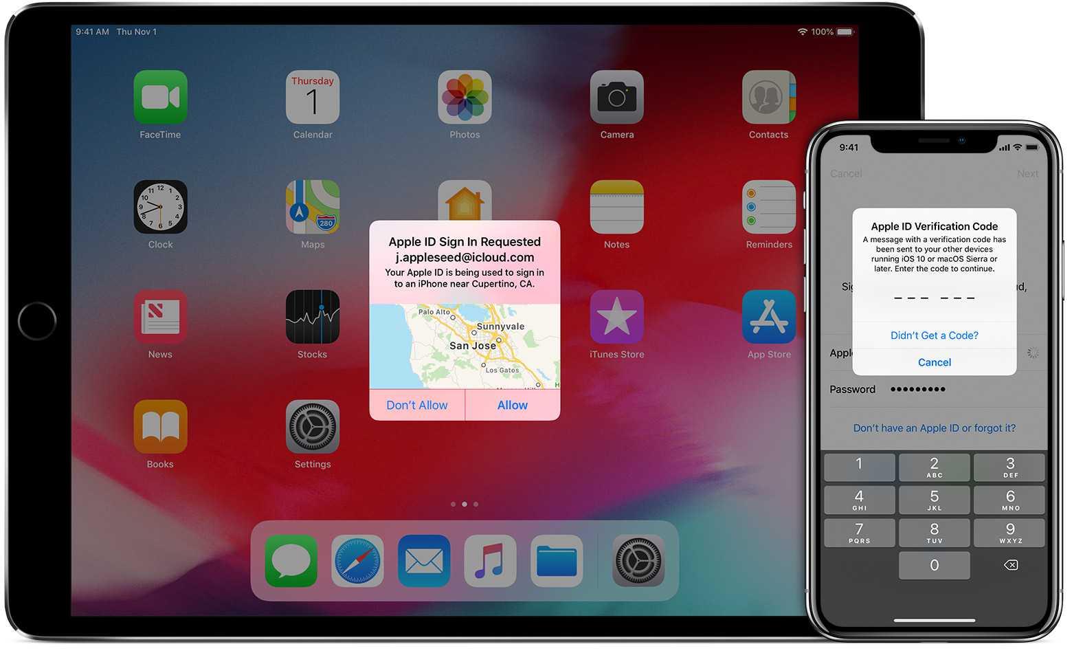 Zur Einrichtigung der Zwei-Faktor-Authentifizierung ist ein iPhone, iPad oder Mac erforderlich.