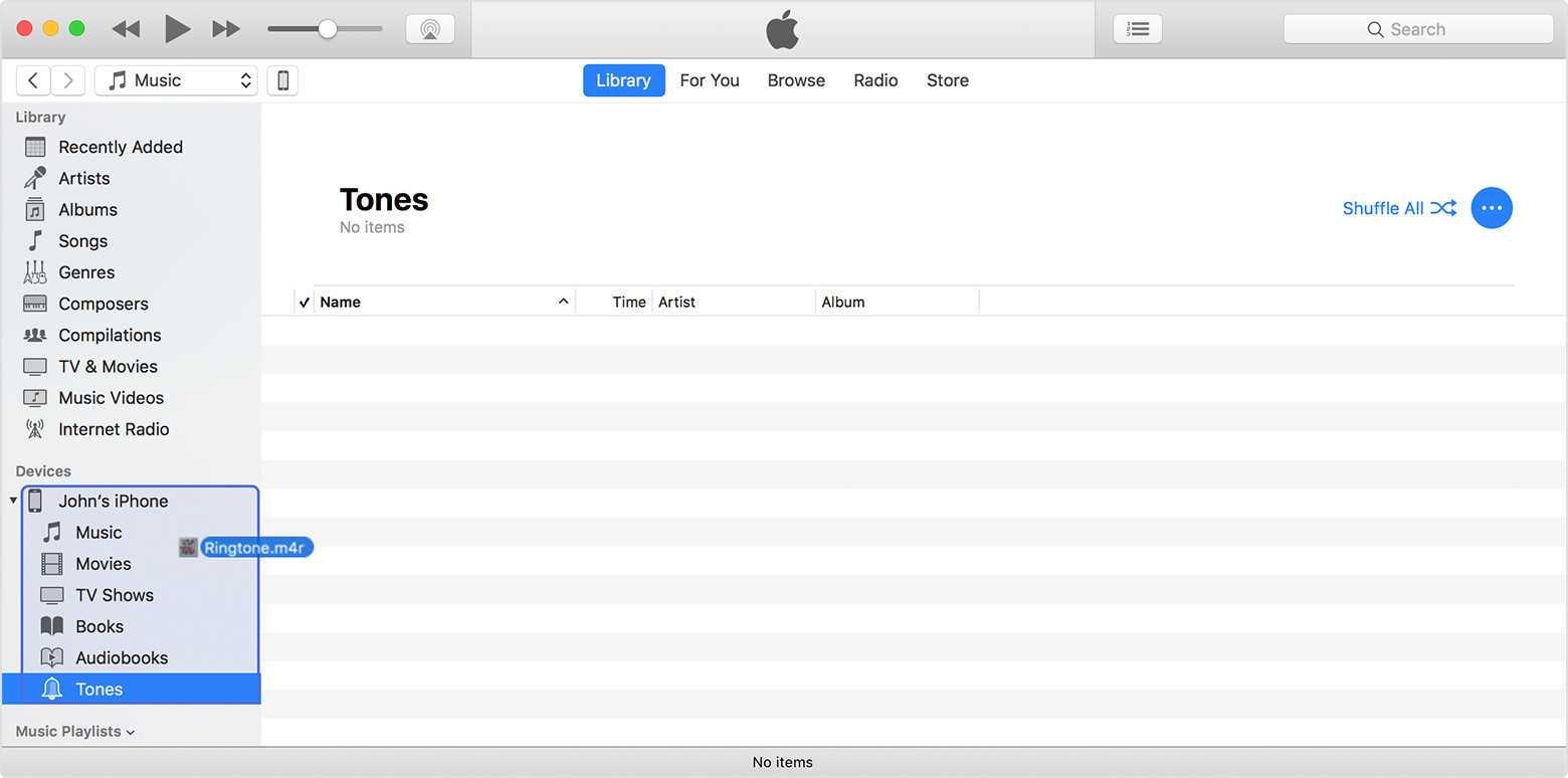 Den Klingelton müssen Sie mit iTunes 12.7 nun manuell auf das angesteckte  iPhone in der Seitenleiste ziehen. (Bild  Apple) 4fee1ad2a9