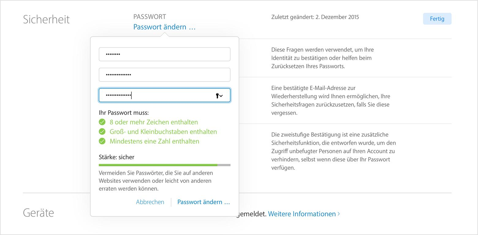 Apple-ID Passwort