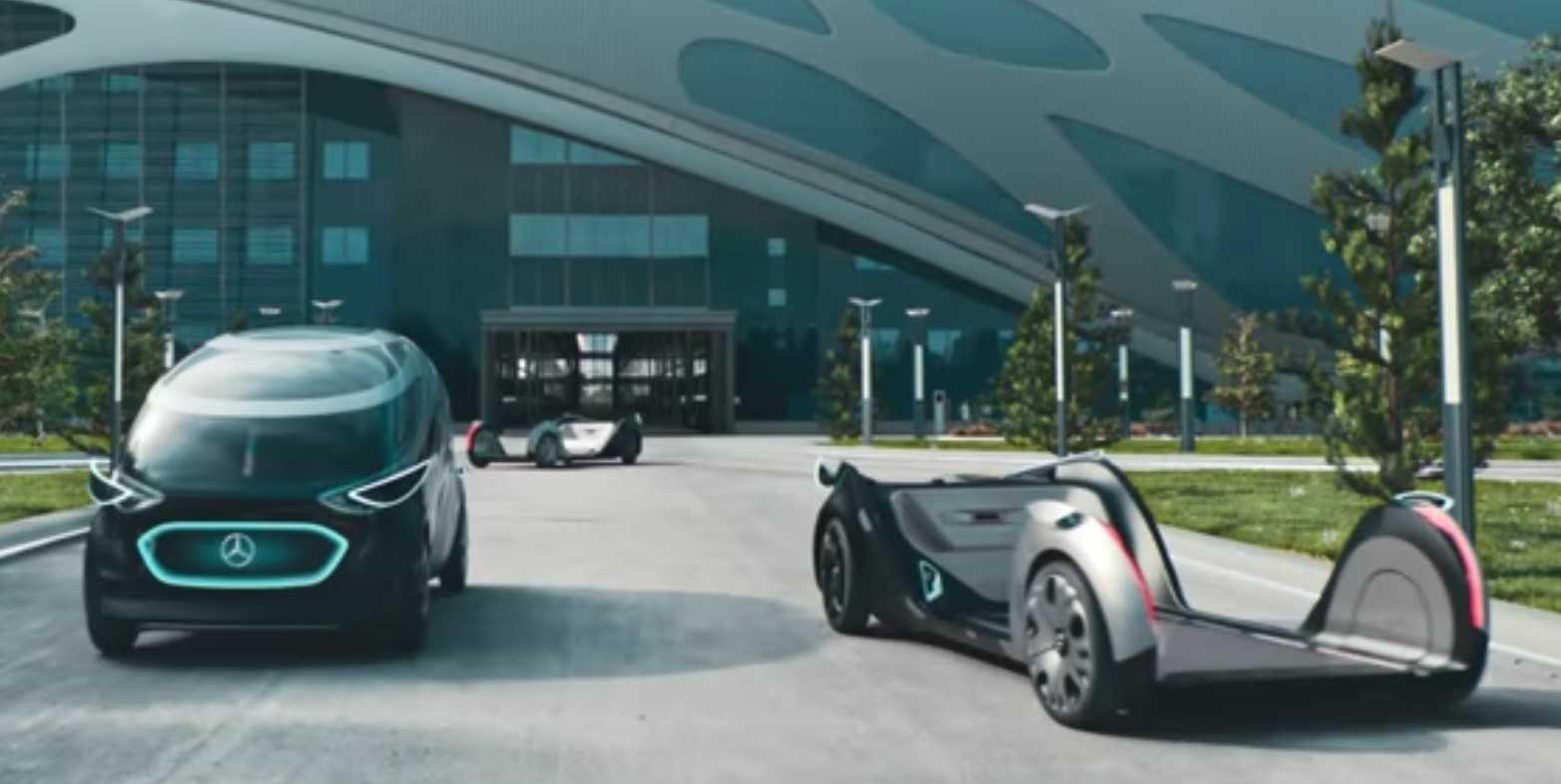 Mercedes setzt bei seiner Urbanetic-Studie ebenfalls auf Wechselaufbauten.