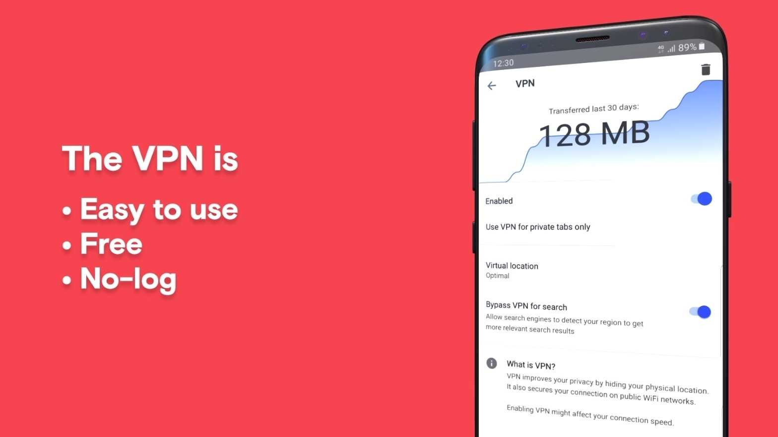 Android-Browser: Opera 51 mit eingebautem VPN-Dienst