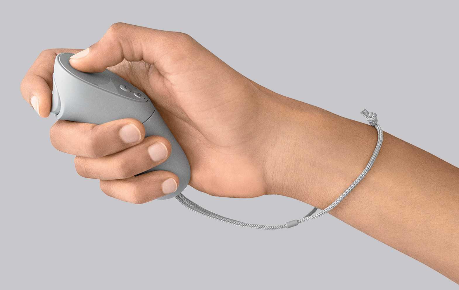 Der Oculus-Go-Handcontroller erkennt Handbewegungen, aber nicht die Position im Raum.