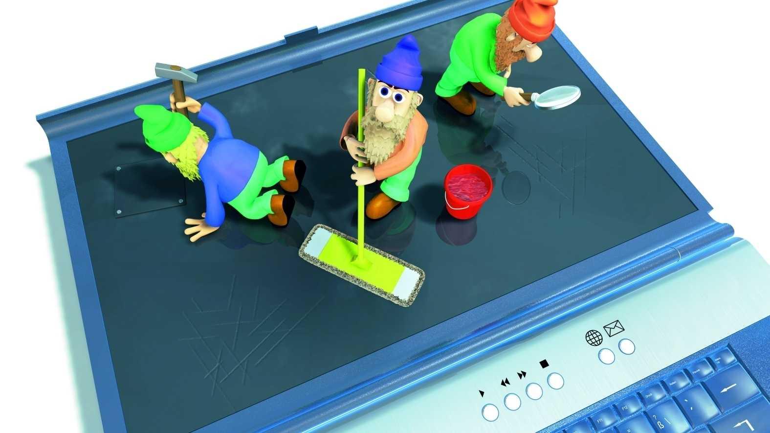 Notebook, PC, Drucker, Display richtig reinigen