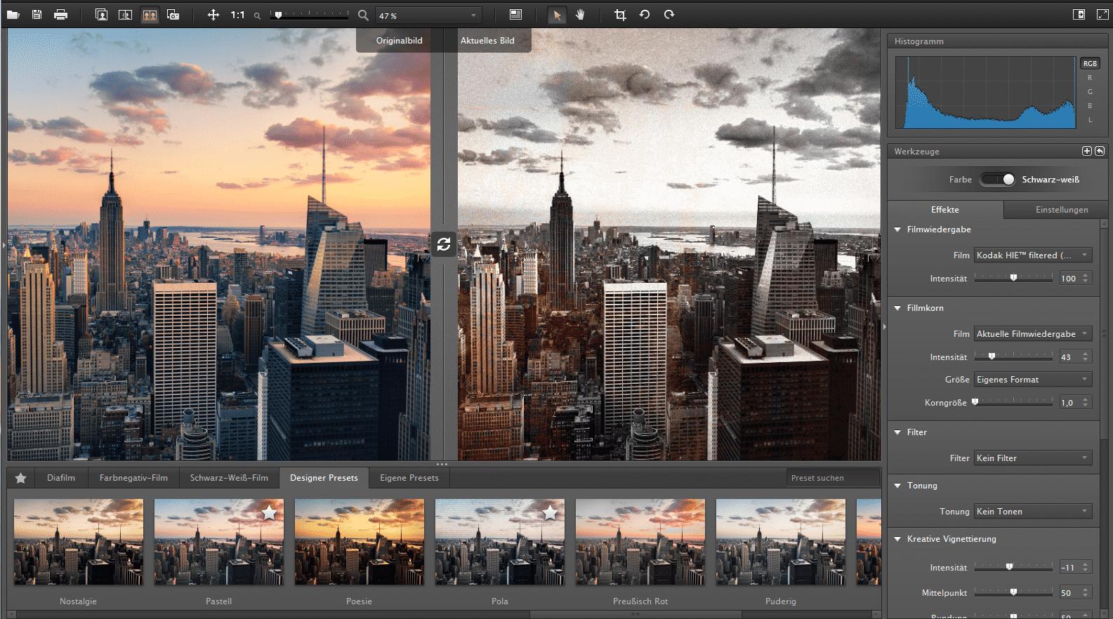 Simulation analoger Fotofilme | heise online