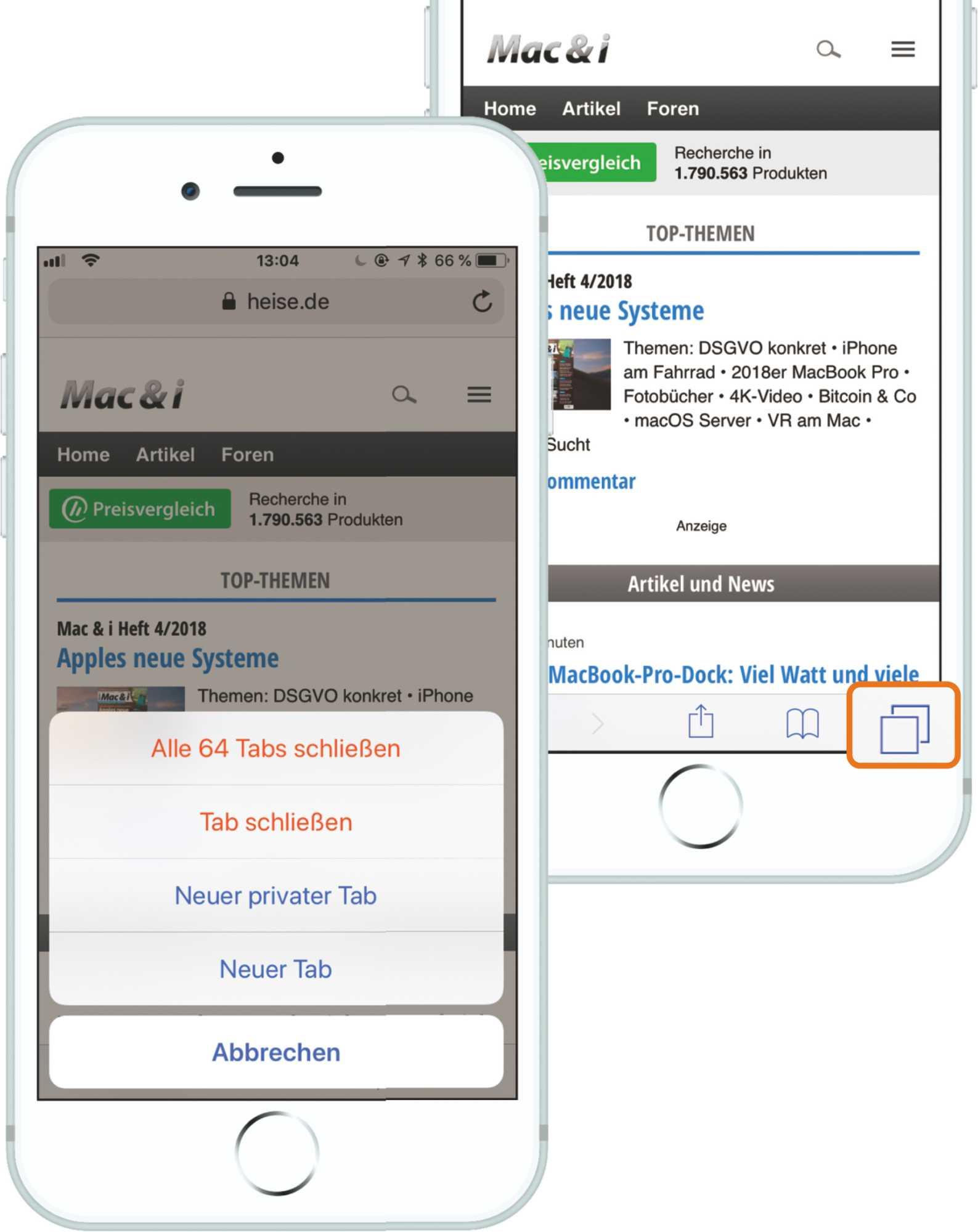 Safari iPhone Tabs