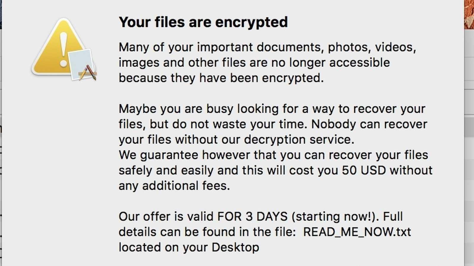 Neue Mac-Ransomware kursiert in illegalen Kopien