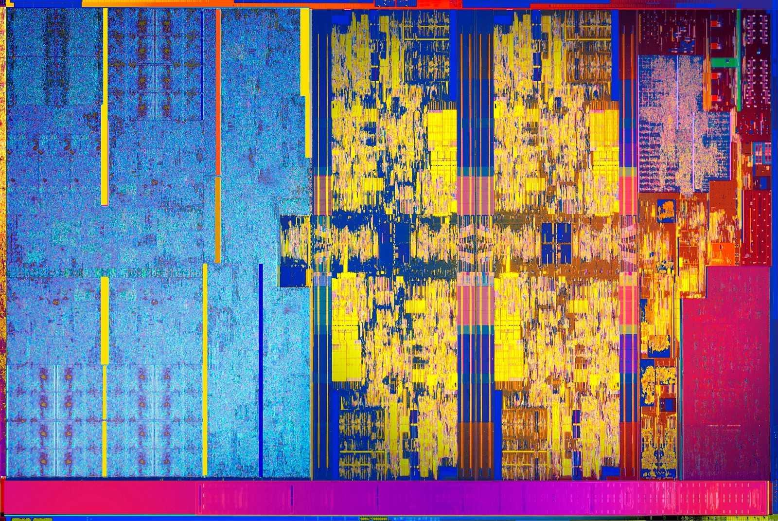 Die-Shot Intel Core i-8000