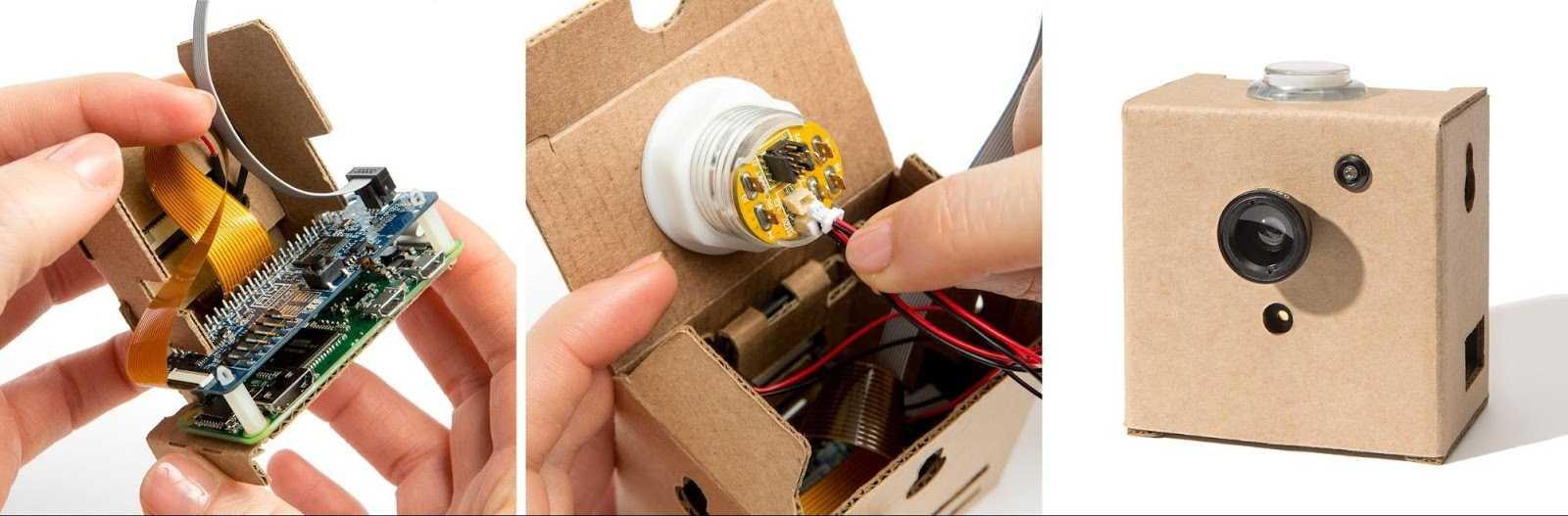 Wie beim Voice Kit hält auch beim Vision Kit ein Pappgehäuse alles zusammen.
