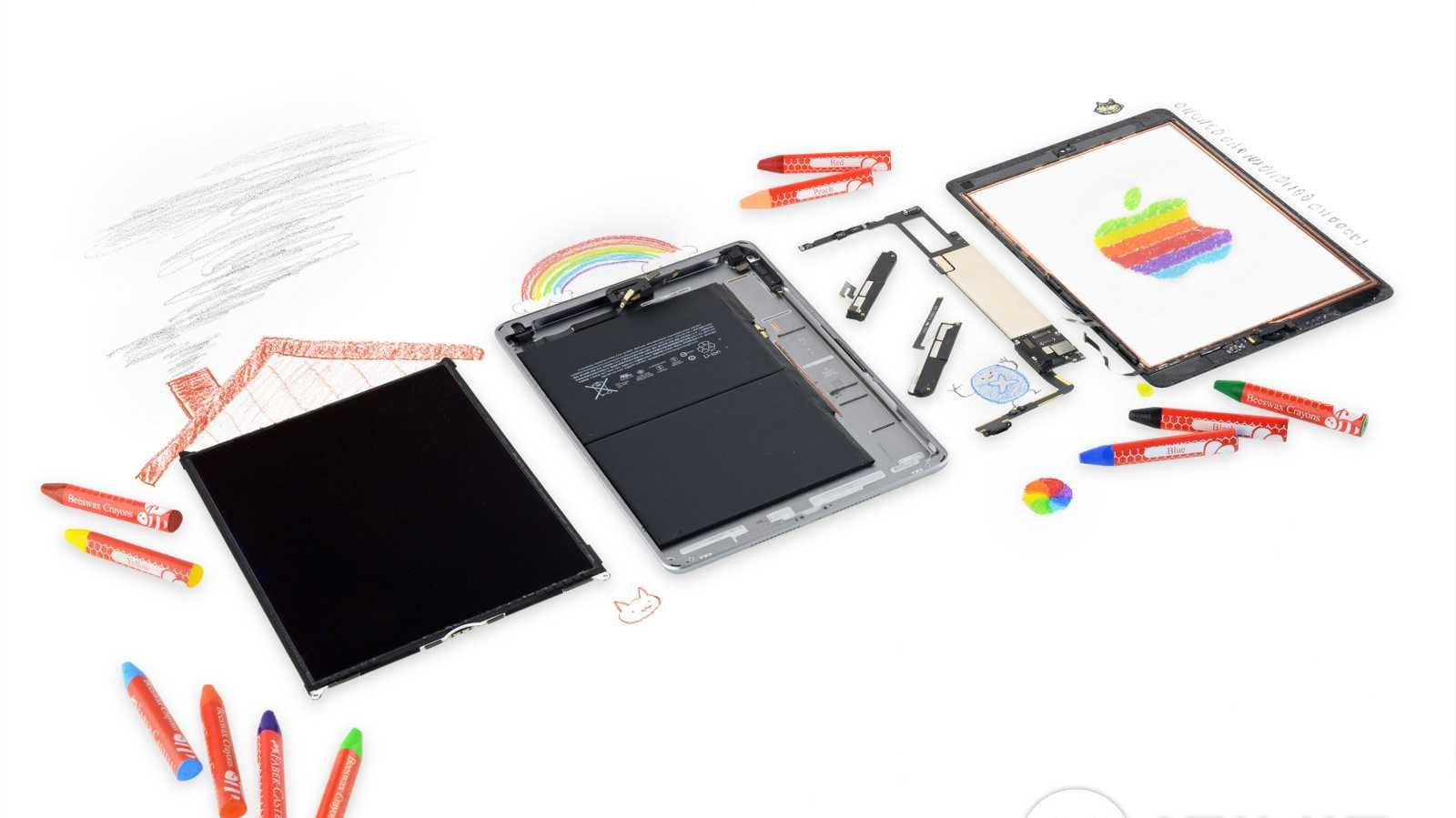 Neues Billig-iPad schlecht zu reparieren