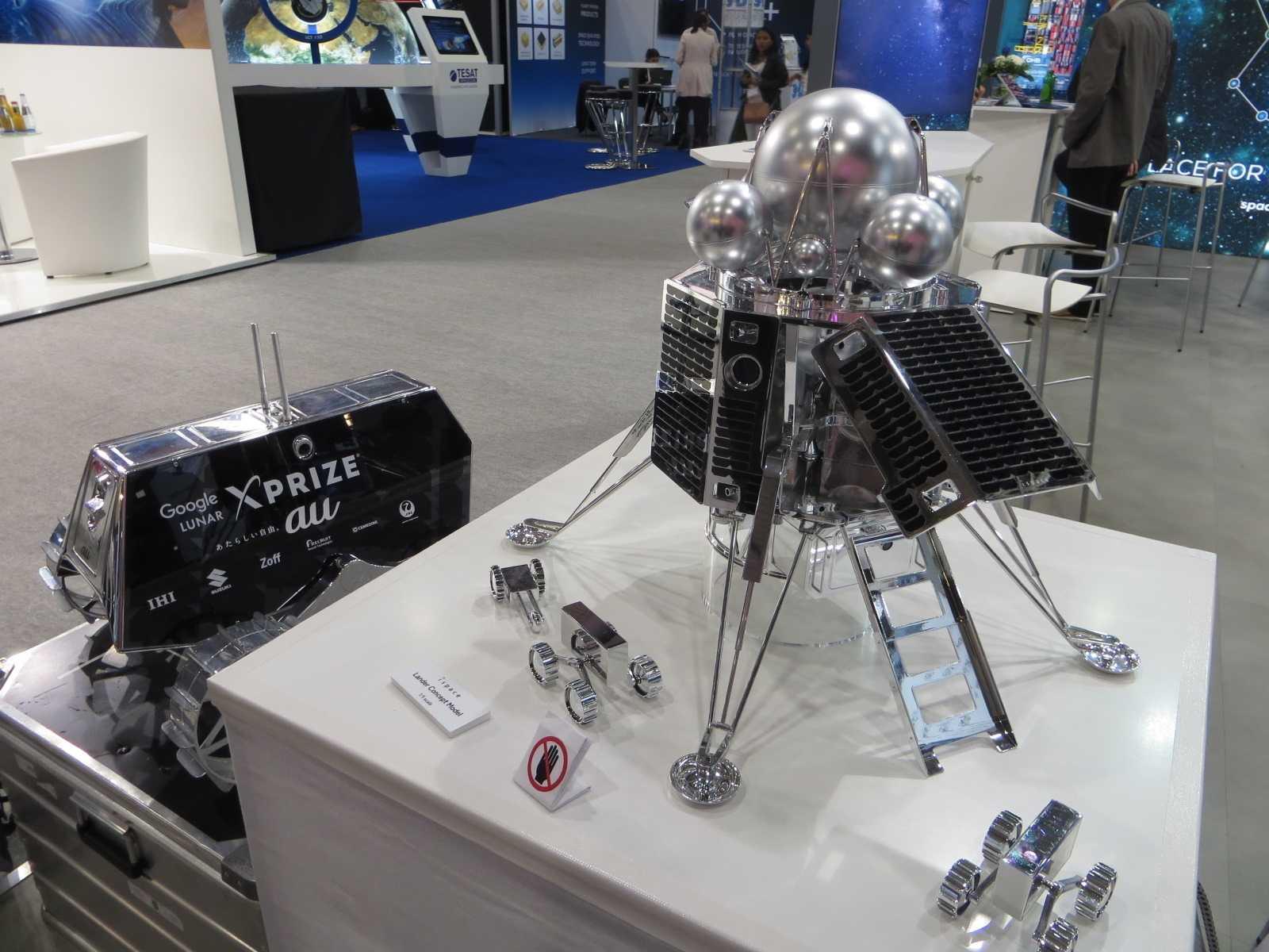 Vom Moon Lander hat iSpace ein Modell im Maßstab 1:5 nach Bremen mitgebracht…