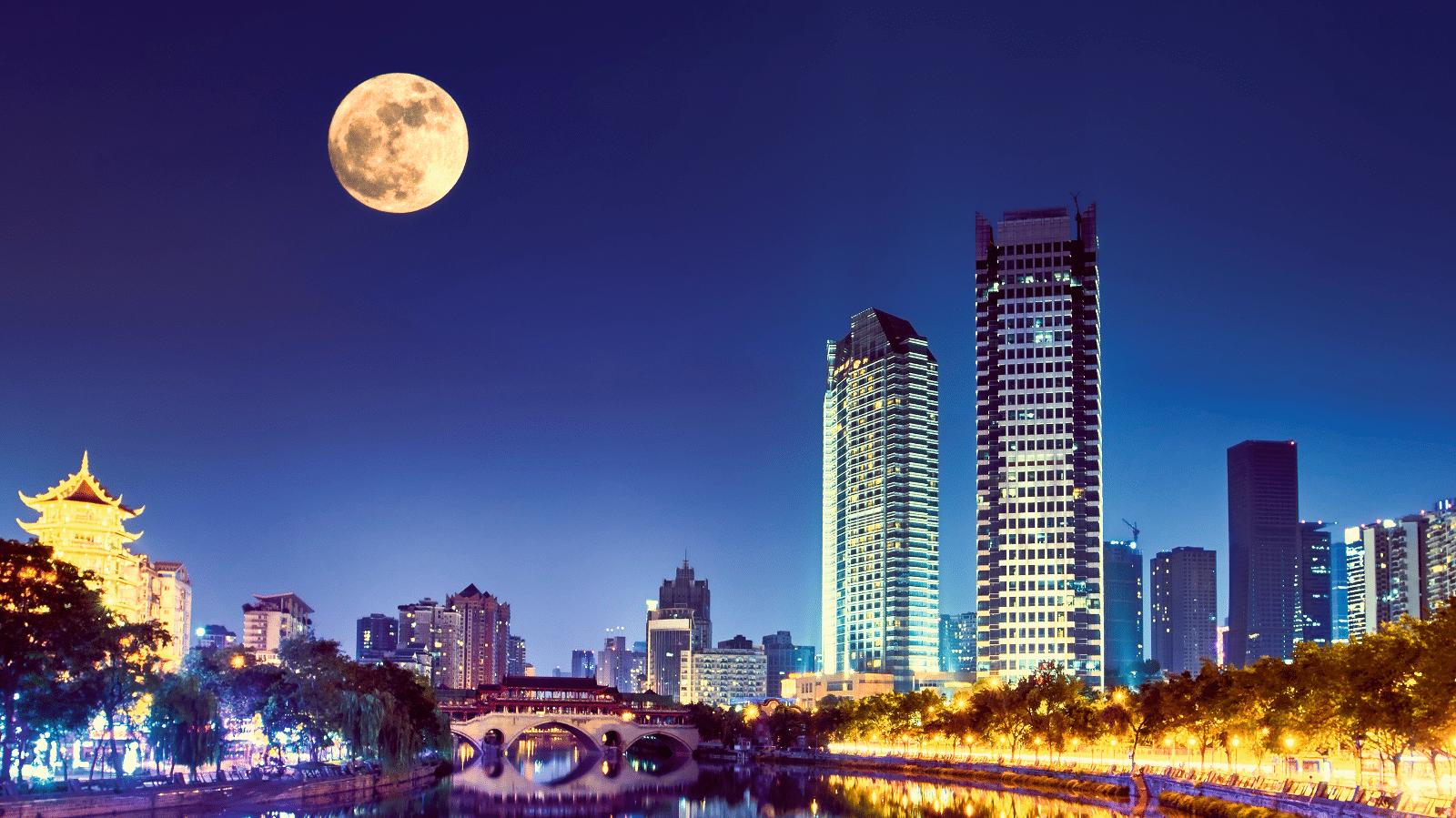 Künstlicher Mond soll über China leuchten
