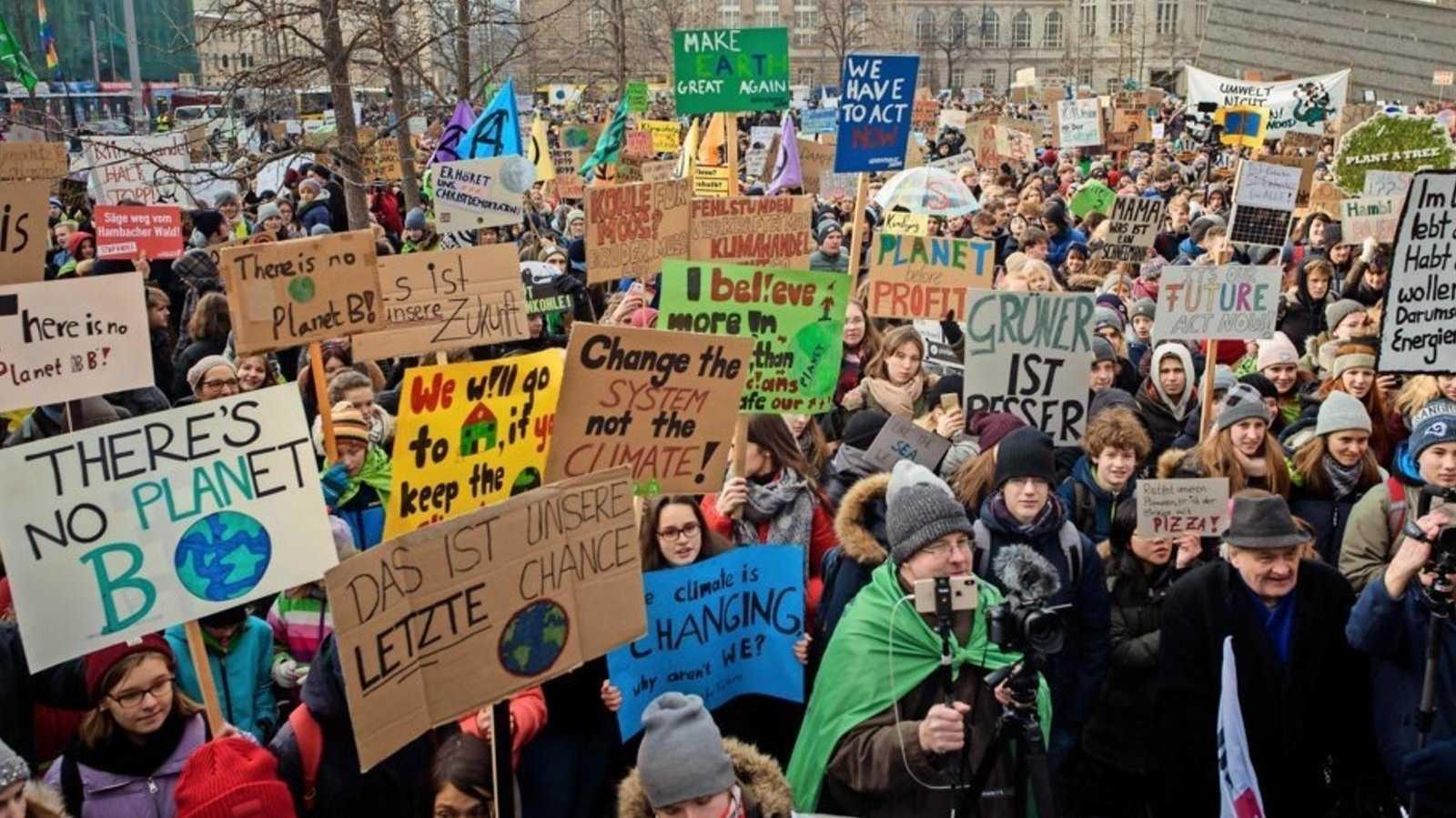Protest statt Schule: Tausende Schüler für mehr Klimaschutz