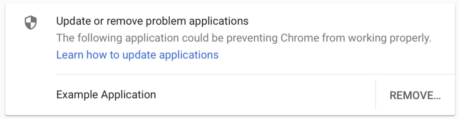 Bringt ein Antiviren-Programm den Chrome-Browser zum Absturz, erhält der Nutzer künftig einen Warnhinweis darüber.