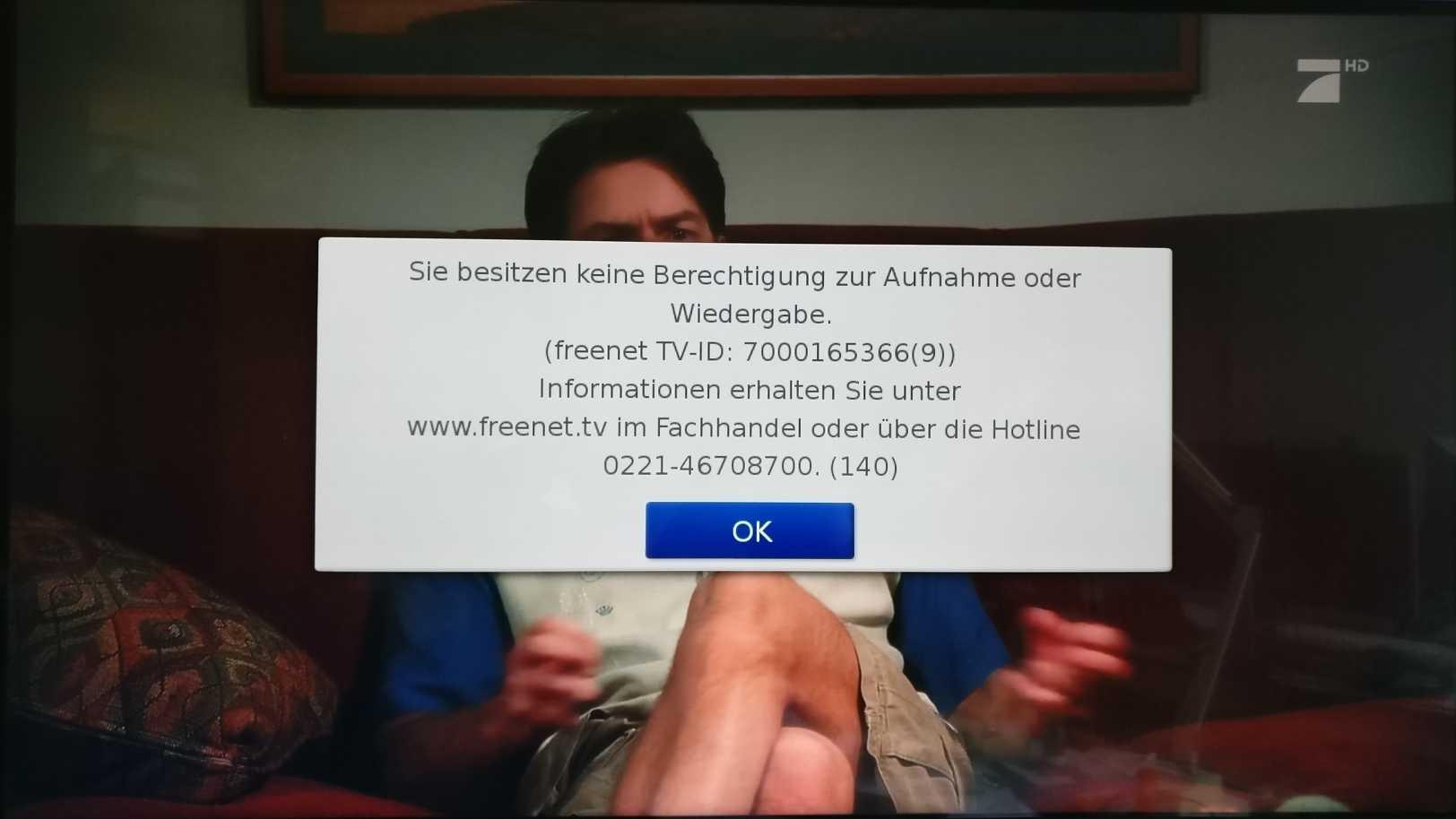 DVB-T2 HD: Erst Anruf, dann Aufnahme