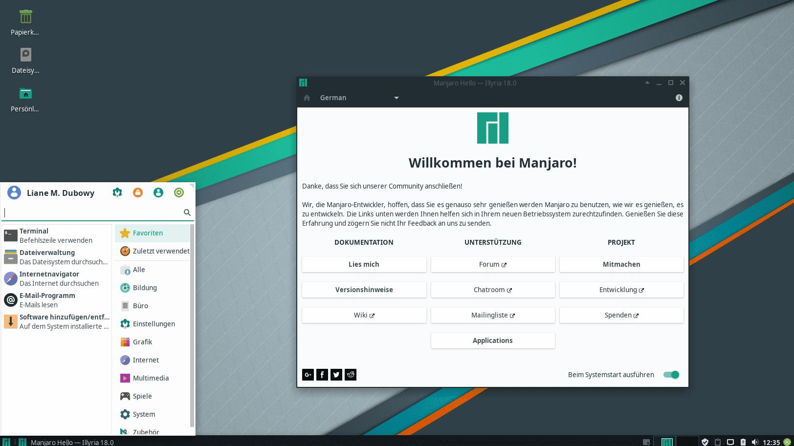 Manjaro 18.0 Xfce