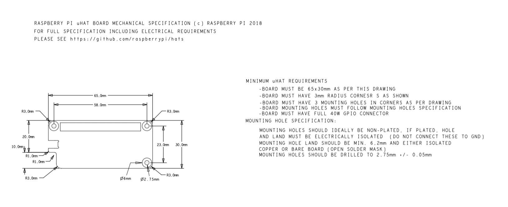 Technische Zeichnung uHAT