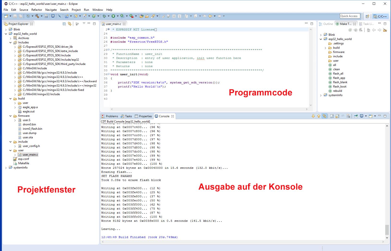 """Hello-World"" Projekt in Eclipse"