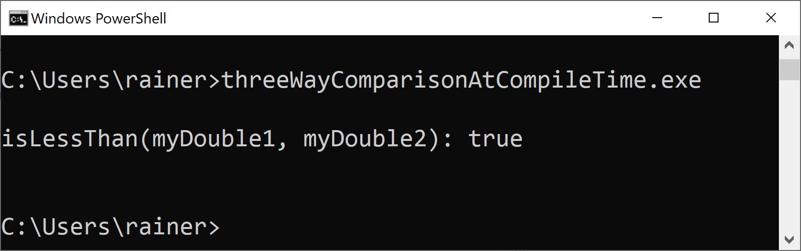 C++20: Der Drei-Weg-Vergleichsoperator