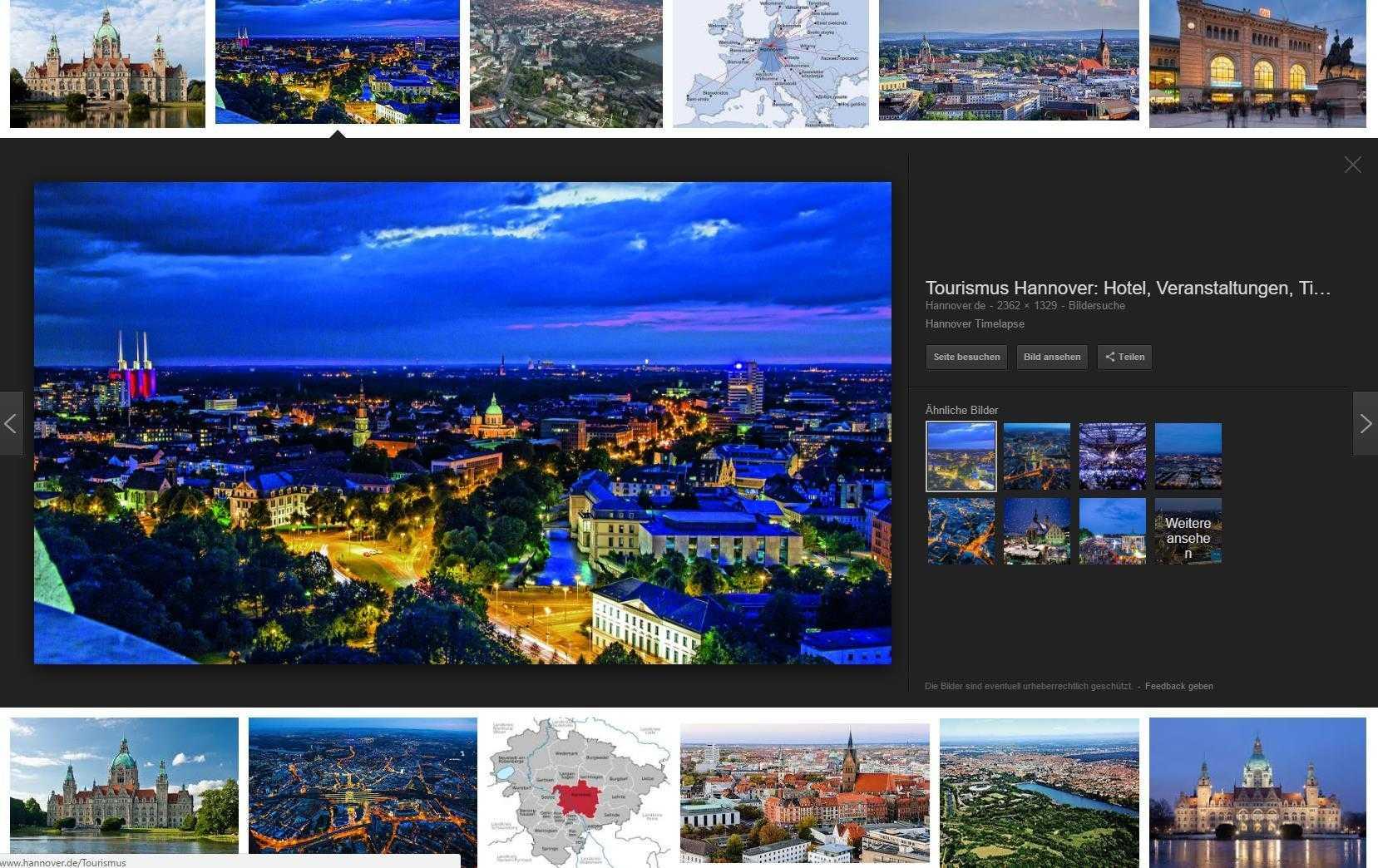 In der neuen Bildersuche von Google ist nur noch das Foto zu sehen – nicht aber die Webseite, auf der das Bild eingebettet ist.
