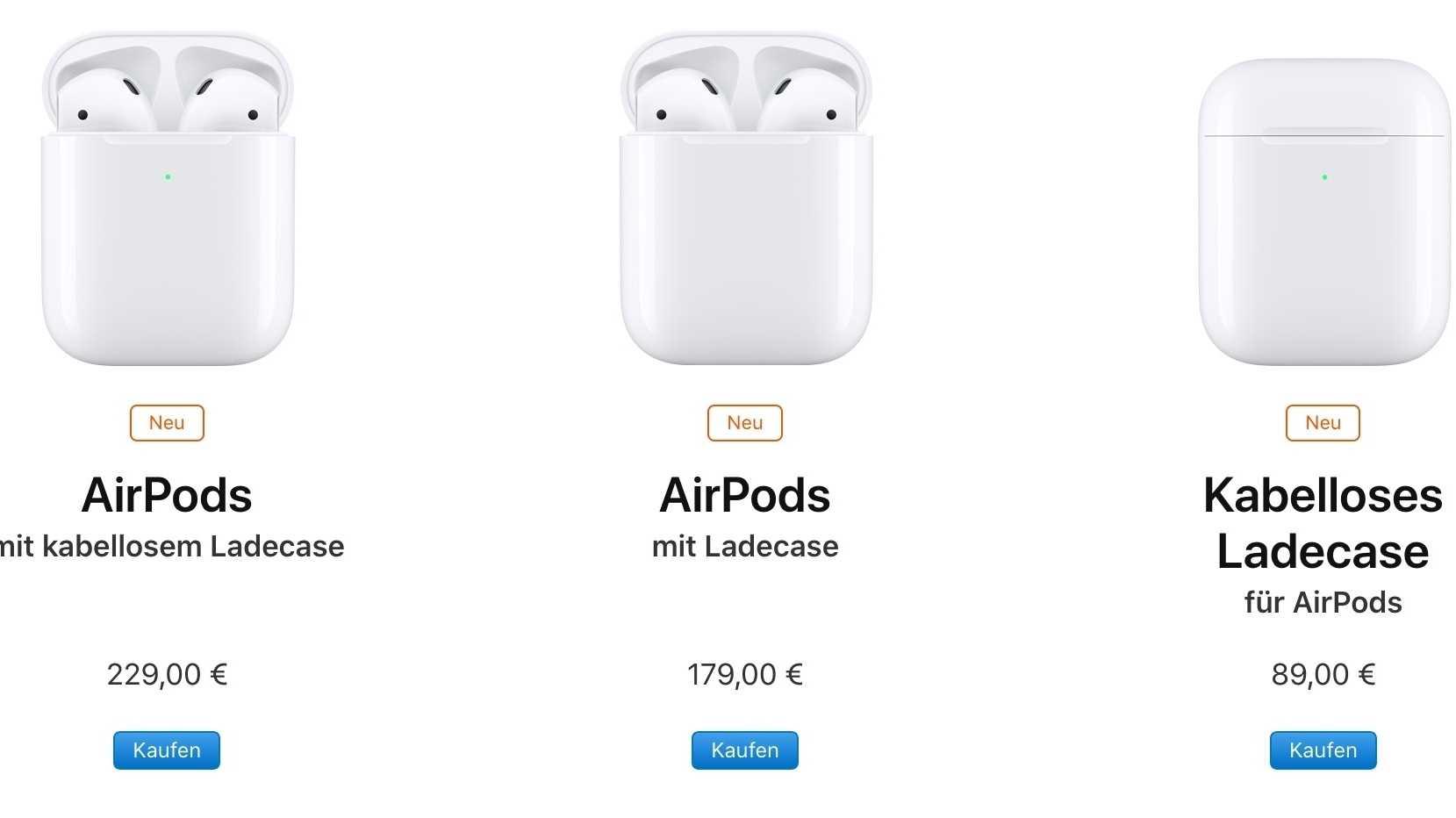 Neue AirPods: Erste Charge bereits ausverkauft