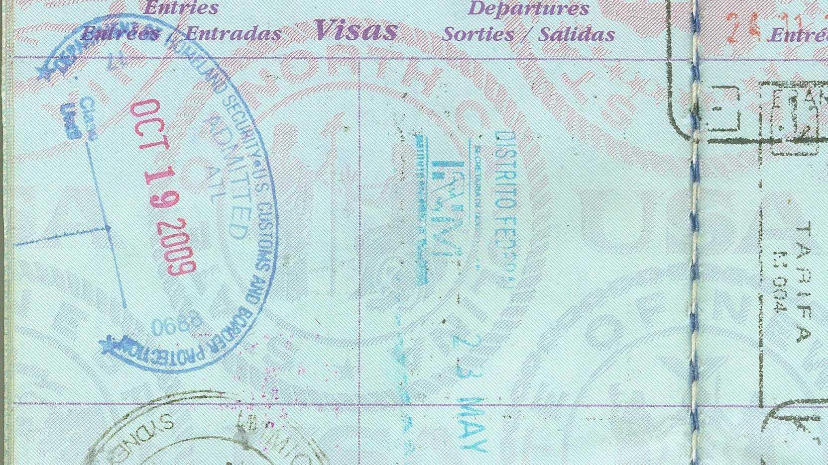 Stempel in einem Reisepass