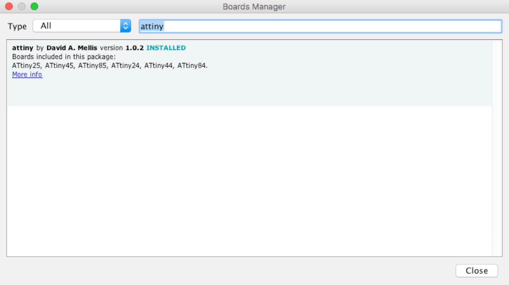Installation von ATtiny-Unterstütztung in der Arduino IDE
