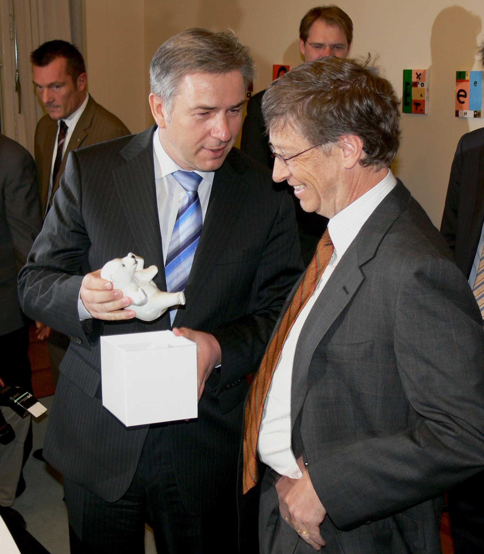 Klaus Wowereit und Bill Gates