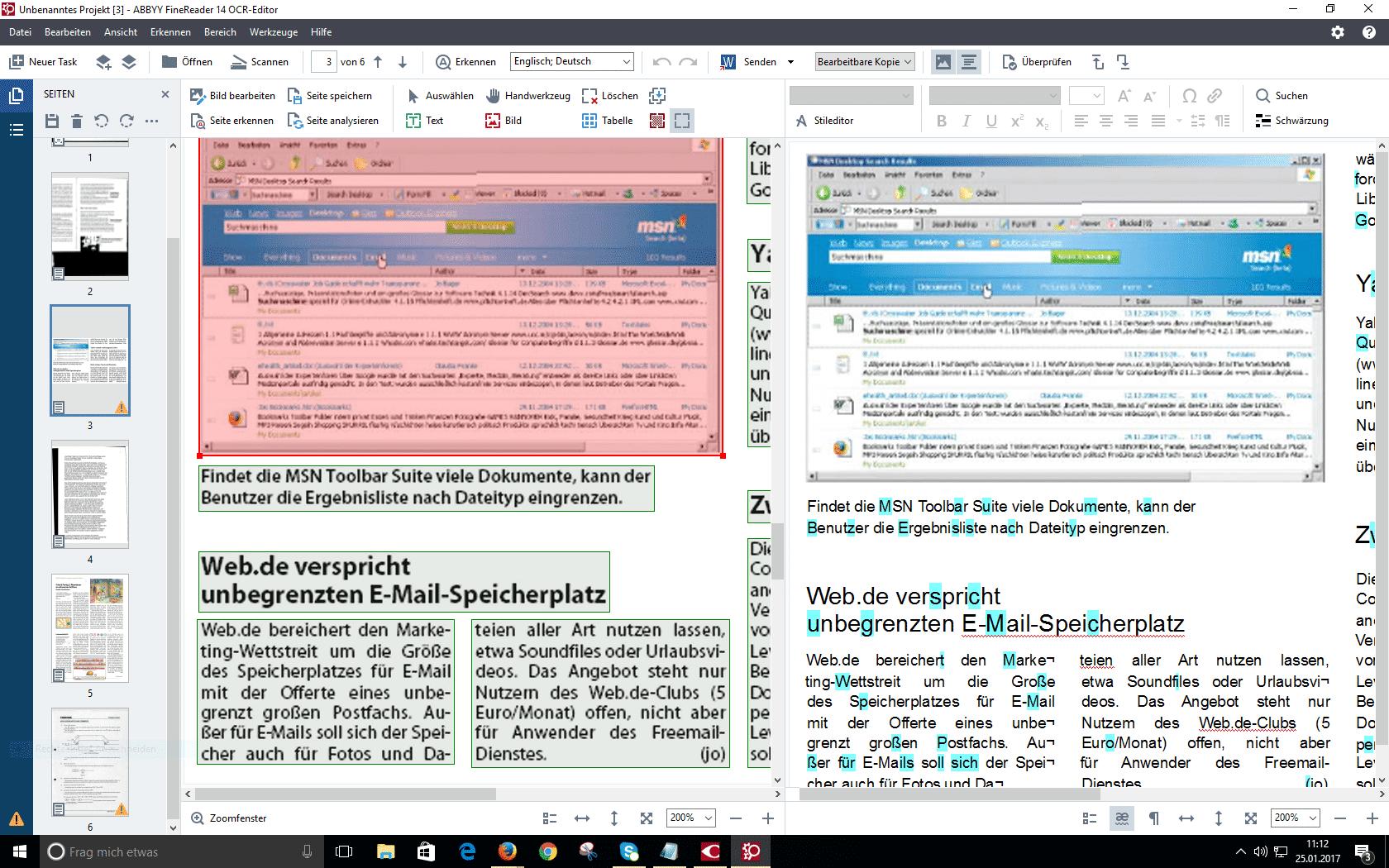 In FineReader 14 wurden sämtliche PDF-Bearbeitungsfunktionen des Abbyy PDF Transformer+ integriert.