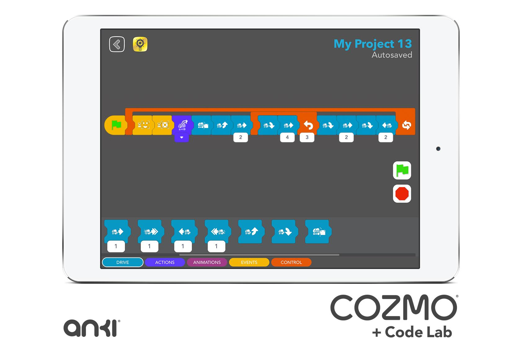 Das objektorientierte Cozmo Code-Lab erlaubt auch Kindern das bequeme Programmieren des Roboters.