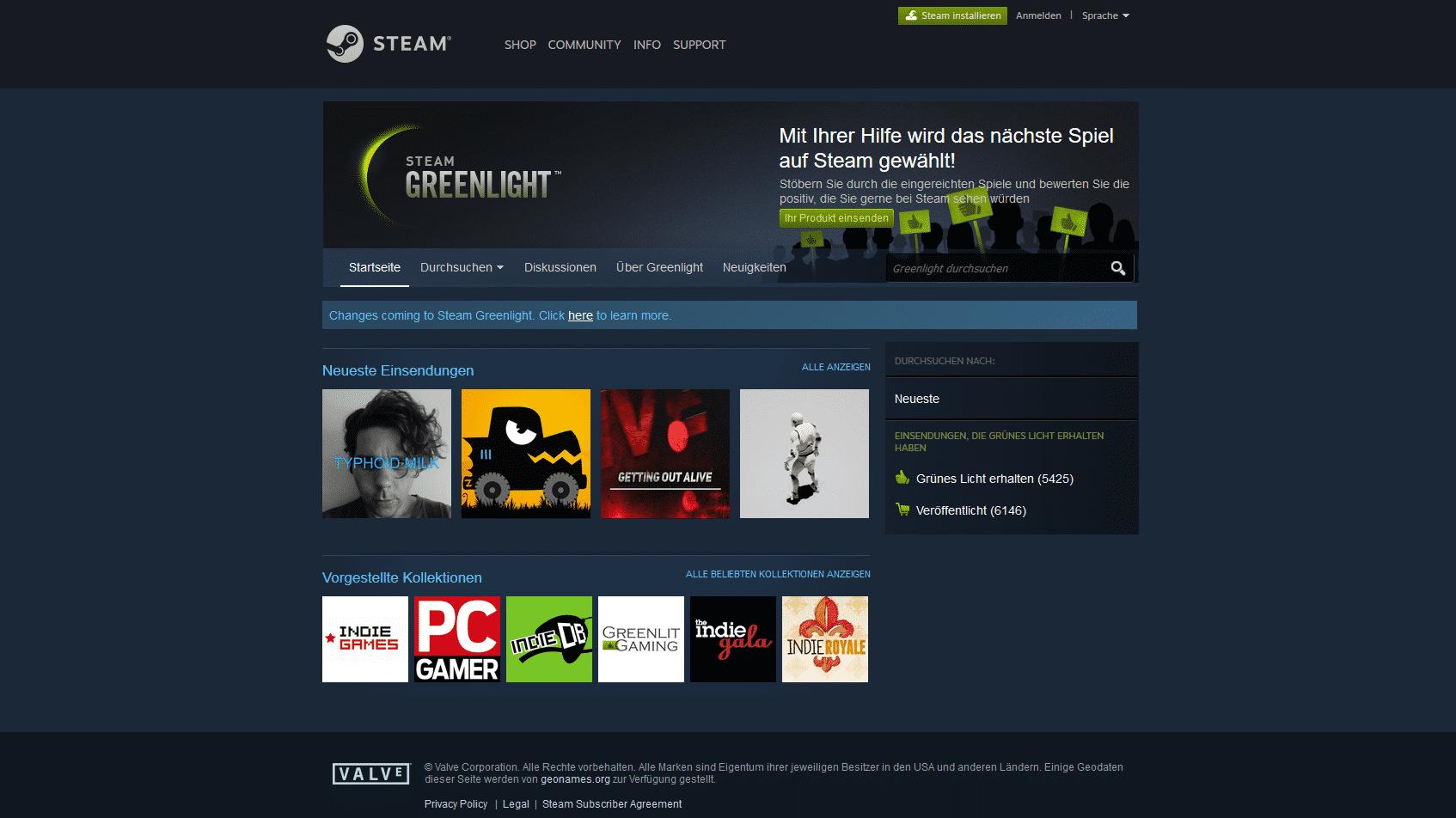 Steam: Valve stampft Greenlight ein