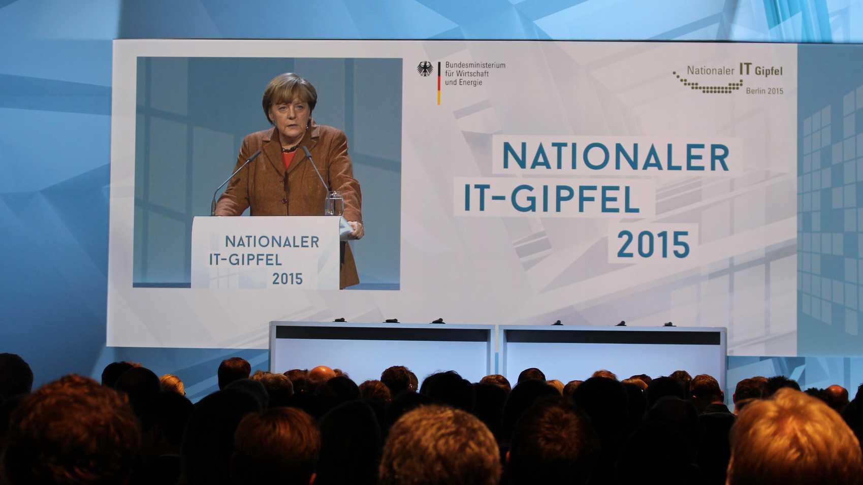 Angela Merkel auf dem IT-Gipfel
