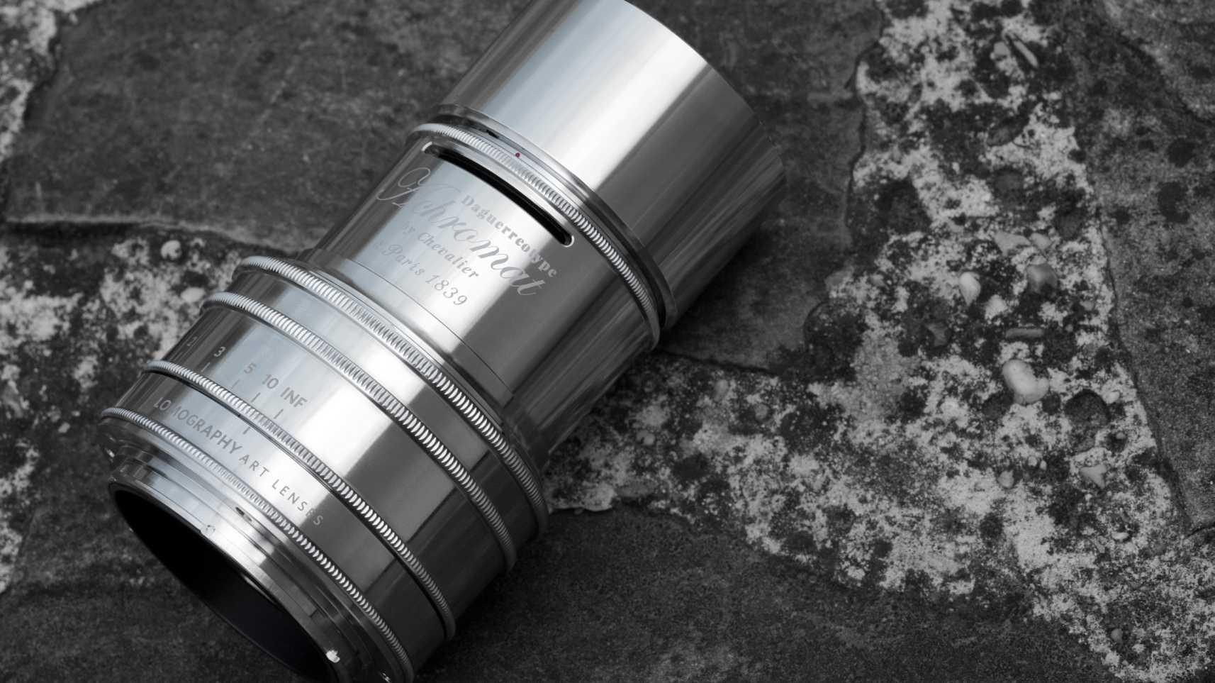 Daguerreotype Achromat 2,9/64 mm Art Lens mit Chromoberfläche