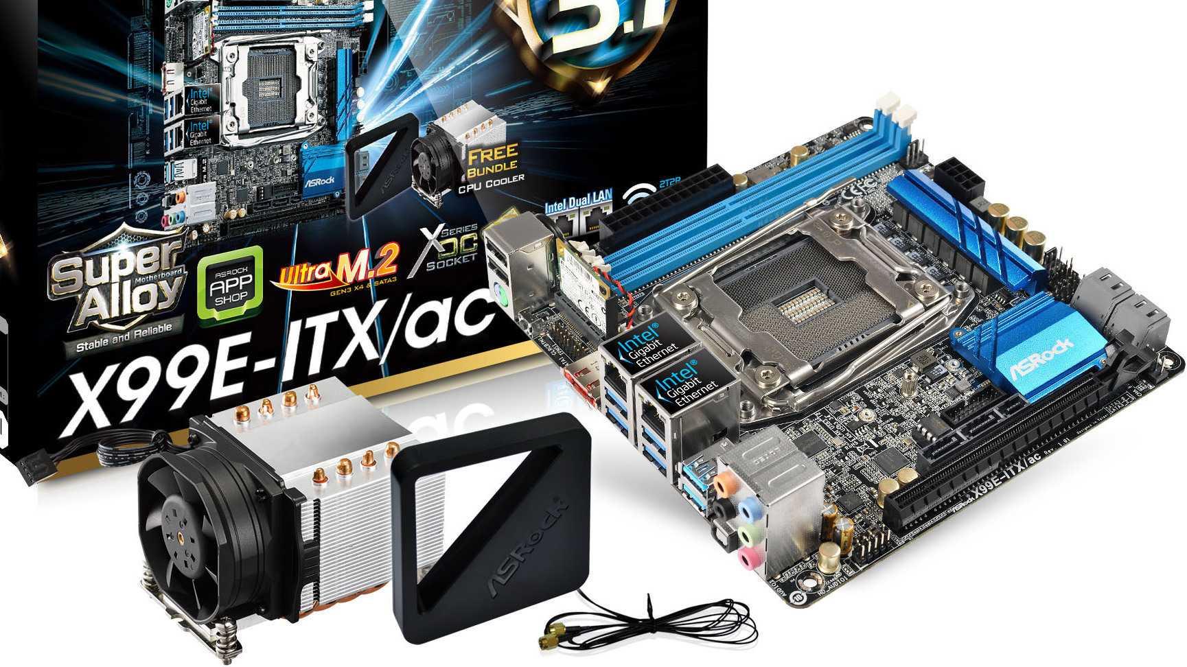 Mini-ITX-Mainboard für Haswell-E-Prozessoren