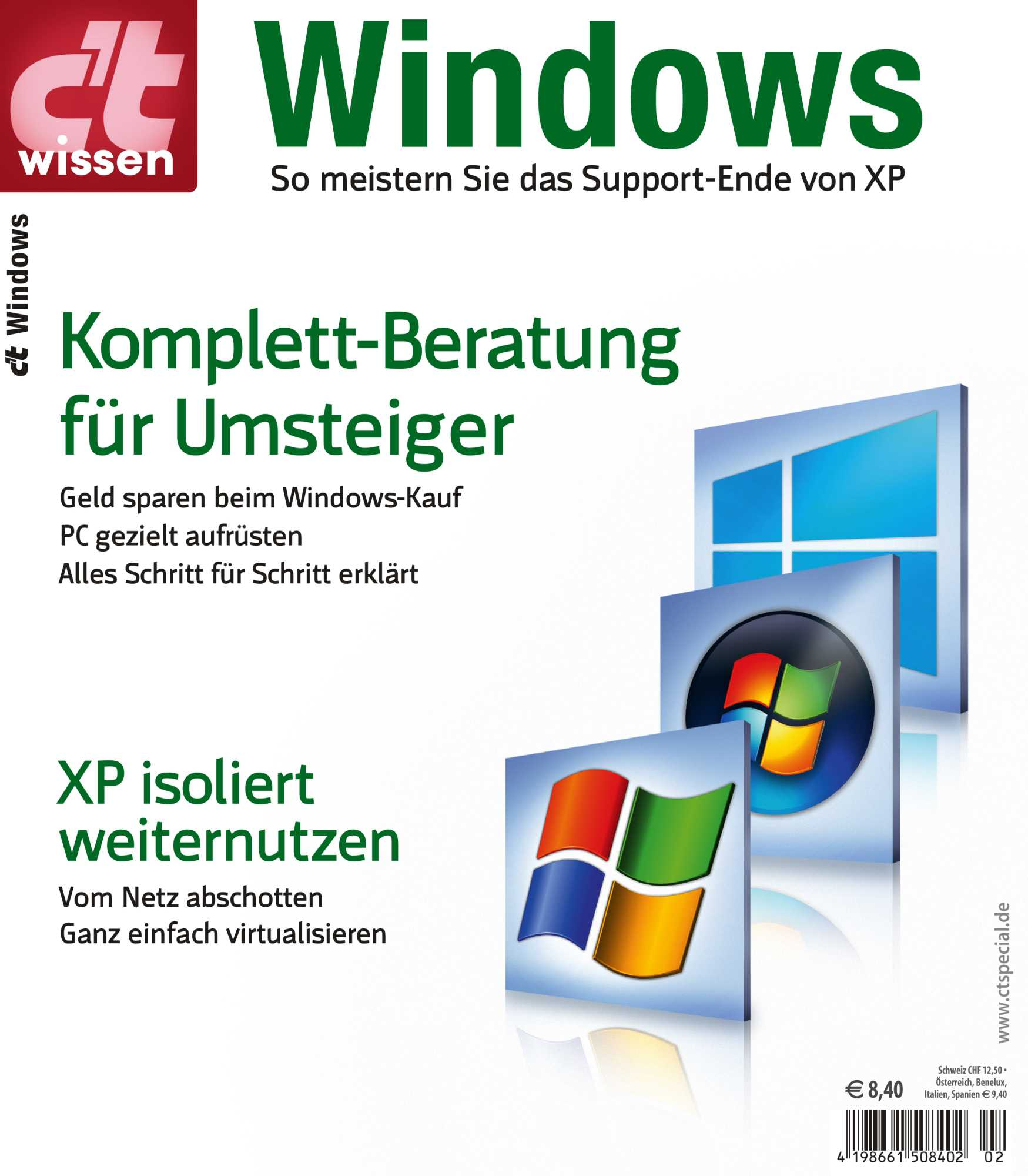 """c't wissen Windows"": So meistern Sie das Support-Ende von Windows XP"