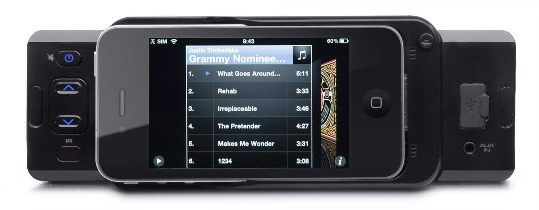 autoradio mit dock f r iphone 3g bis 4s mac i. Black Bedroom Furniture Sets. Home Design Ideas