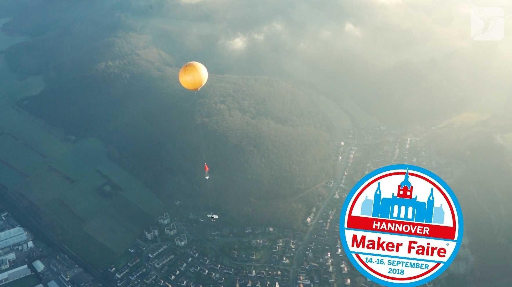 Maker Faire Hannover: Stratosphären Ballon bringt Experimente ins Weltall