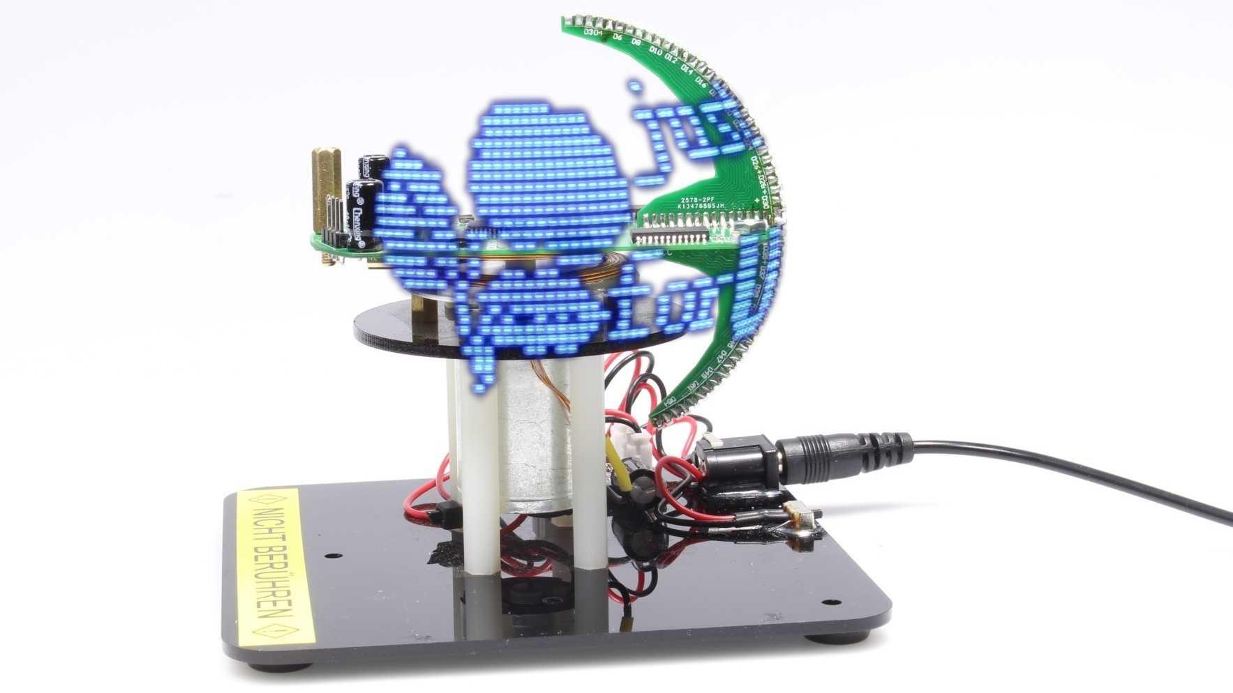 Aufgebauter Mini-POV-Globe