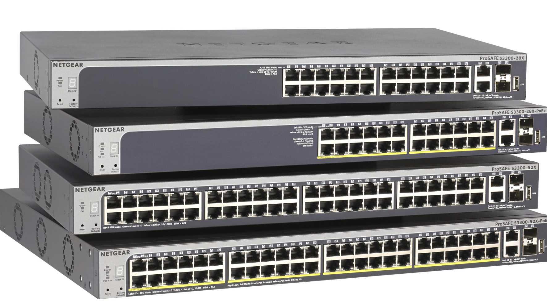 Koppelbare Switches von Netgear
