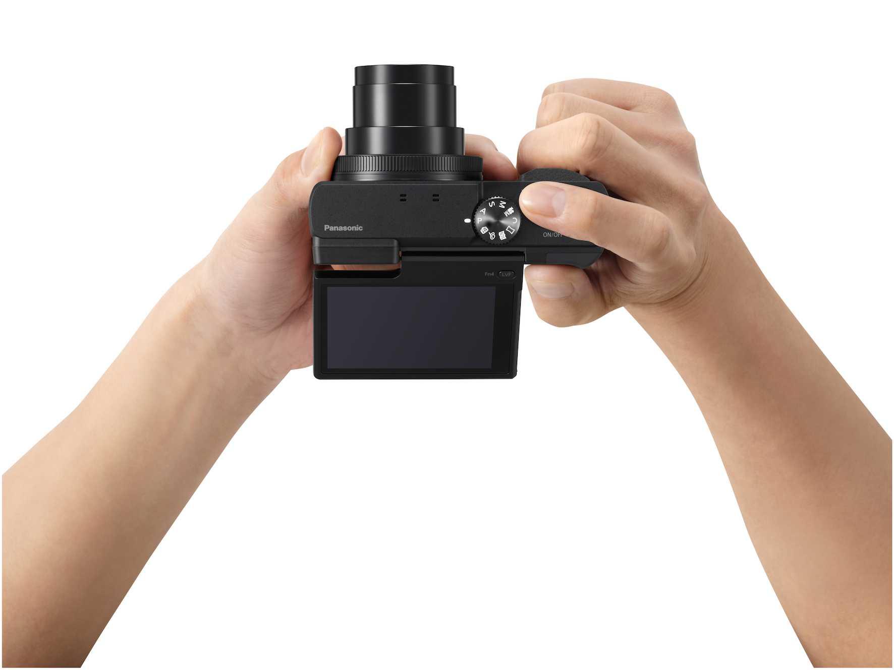 Das klappbare Touch-Display erleichtert bodennahe Aufnahmen.